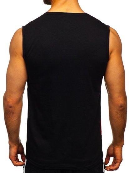 Černé pánské tričko s potiskem Bolf SS11081