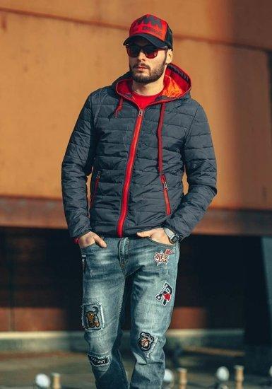 Černo-červená kšiltovka Bolf 24