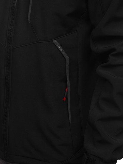 Černo-červená pánská softshellová bunda Bolf 12266