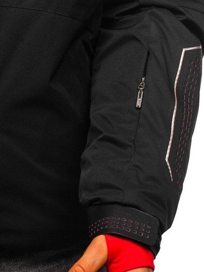 Černo-červená pánská zimní lyžářská bunda Bolf A5624