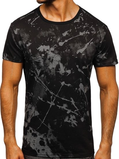 Černo-šedé pánské tričko s potiskem Bolf JS10788