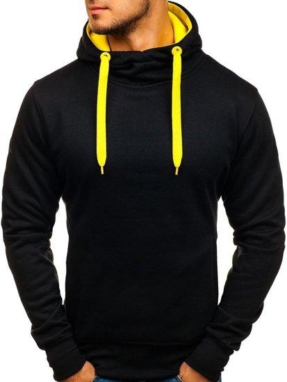 Černo-žlutá pánská mikina s kapucí Bolf 2072