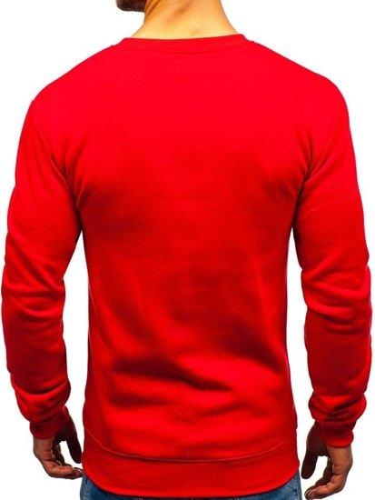 Červená pánská mikina bez kapuce s potiskem Bolf TX18