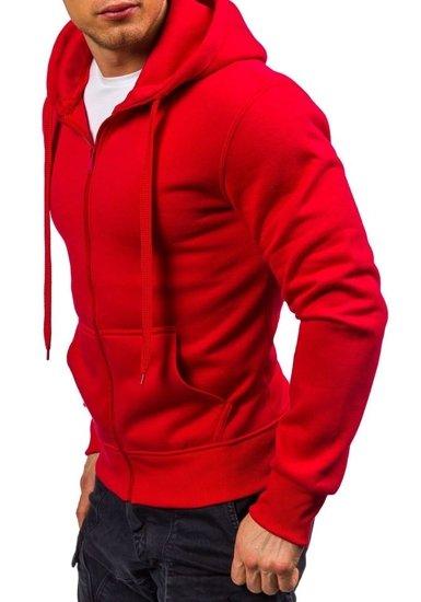 Červená pánská mikina s kapucí Bolf AK50-4