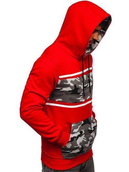 Červená pánská mikina s kapucí Bolf KS2221