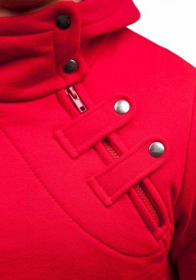 Červená pánská mikina s kapucí Bolf MARIO
