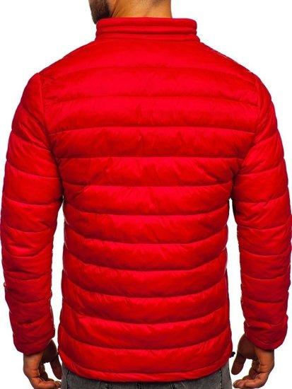 Červená pánská prošívaná přechodová bunda Bolf 1119
