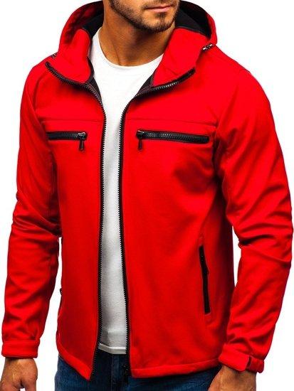 Červená pánská softshellová bunda Bolf 56003