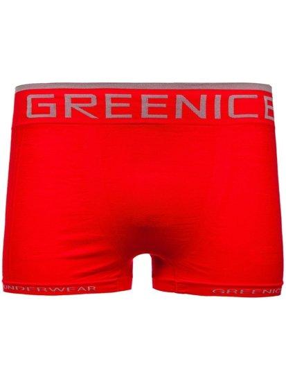 Červené pánské boxerky Bolf PL7723