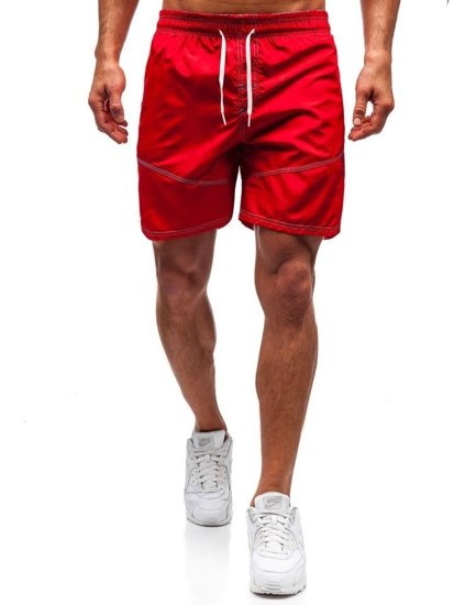 Červené pánské koupací šortky Bolf 348