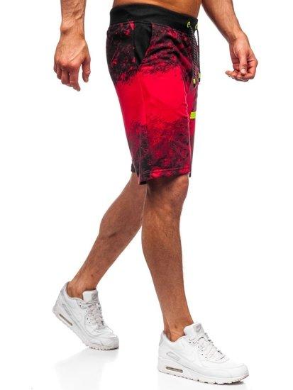 Červené pánské teplákové kraťasy Bolf KK300163