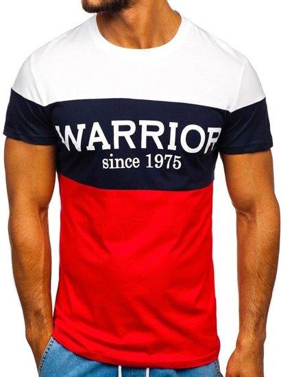 Červené pánské tričko s potiskem Bolf 100693