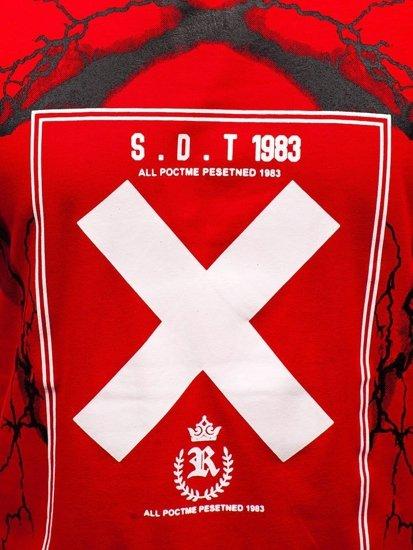 Červené pánské tričko s potiskem Bolf 10875