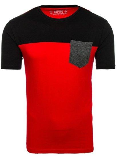 Červené pánské tričko s potiskem Bolf 6309