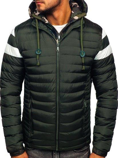 Grafitová pánská sportovní zimní bunda Bolf 50A462
