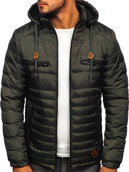 Grafitová pánská sportovní zimní bunda Bolf 50A94