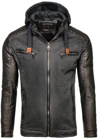 Grafitová pánská zimní bunda Bolf ex369