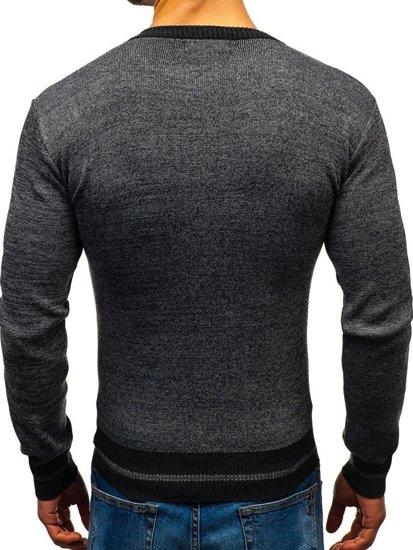 Grafitový pánský svetr Bolf BM6124