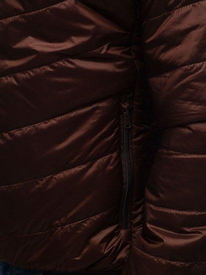 Hnědá pánská přechodná bunda Bolf 139