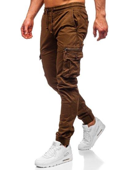 Hnědé pánské jogger kapsáče Bolf CT6702