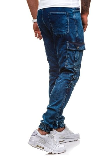Inkoustově modré pánské jogger kapsáče Bolf 4257
