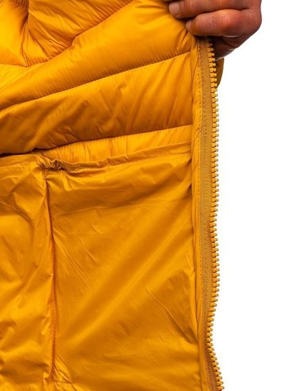 Kamelová pánská prošívaná zimní bunda Bolf 1119