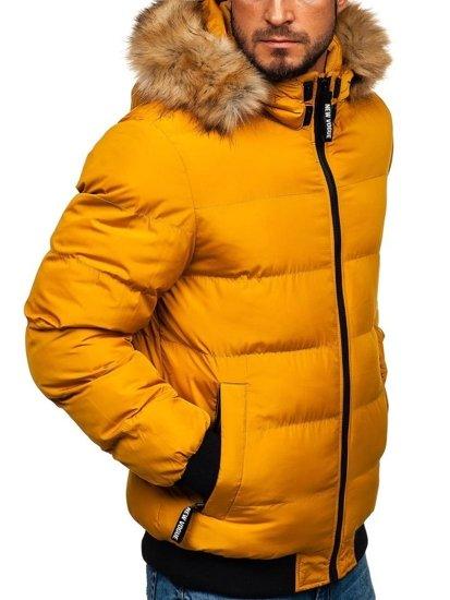Kamelová pánská zimní parka Bolf 5975