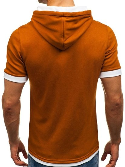 Kamelové pánské tričko bez potisku Bolf 08