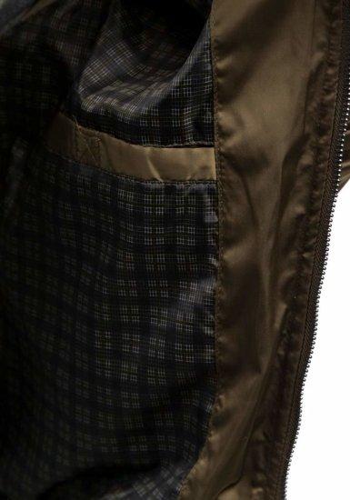 Khaki pánská sportovní přechodová bunda Bolf 57NA