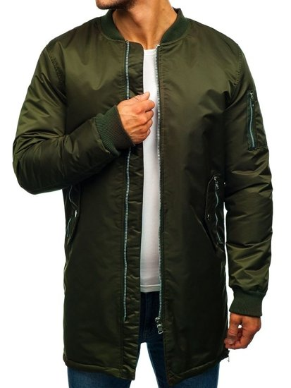 Khaki pánská přechodová bunda Bolf AK903