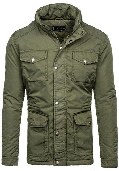 Khaki pánská zimní bunda Bolf 3147