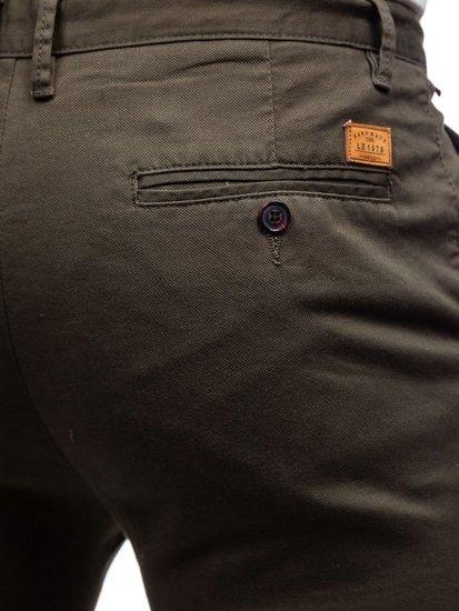 Khaki pánské chino kalhoty Bolf KA969