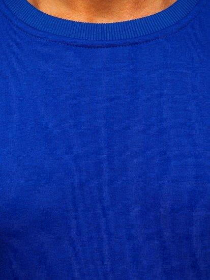 Kobaltová pánská mikina bez kapuce Bolf 2001