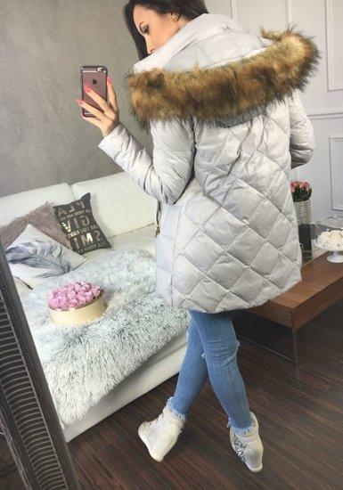 Lilová dámská zimní bunda Bolf 8070