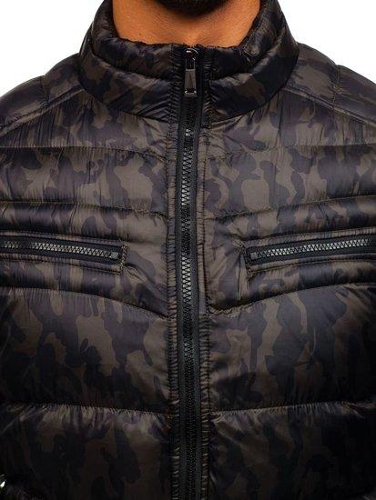 Maskáčovo-khaki pánská sportovní zimní bunda Bolf 3156