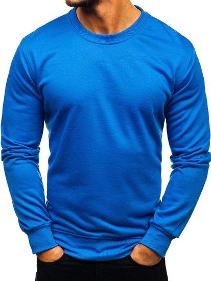Modrá pánská mikina bez kapuce Bolf 22003