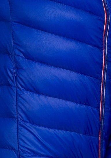 Modrá pánská sportovní přechodová bunda Bolf 3082