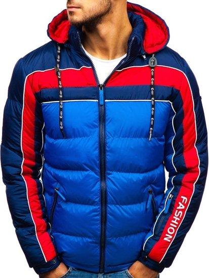 Modrá pánská zimní bunda Bolf A429