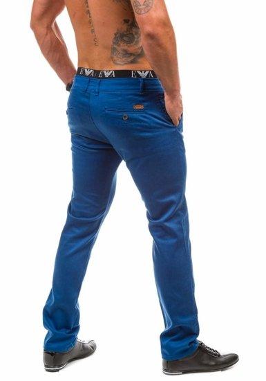 Modré pánské chinos kalhoty Bolf 1562