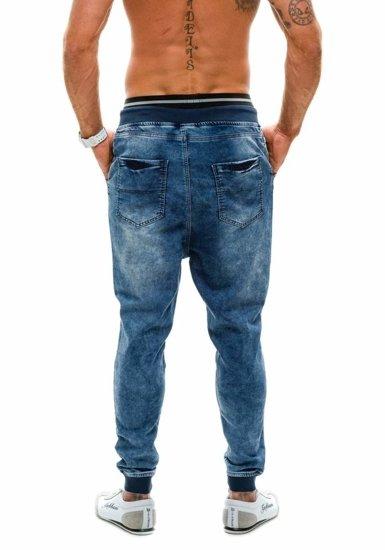 Modré pánské džínové baggy kalhoty Bolf 007B