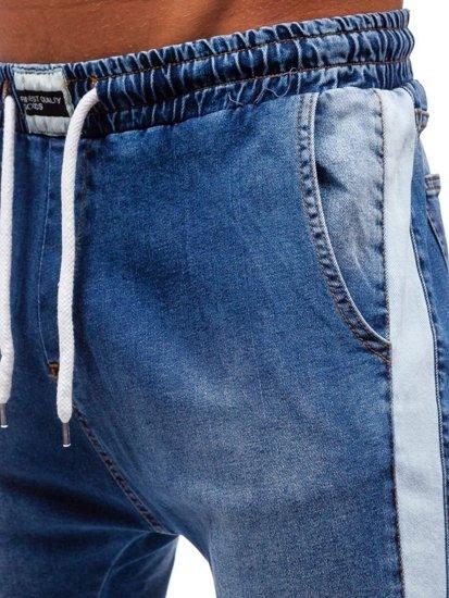 Modré pánské džínové jogger kalhoty Bolf 2047