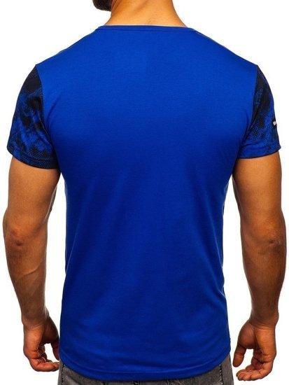 Modré pánské tričko s potiskem Bolf SS10933