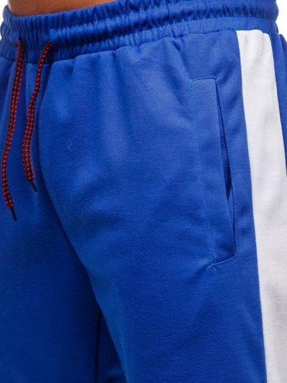 Modro-bílé pánské tepláky Bolf JZ11005