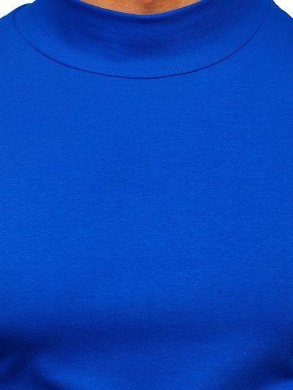 Modrý pánský rolák bez potisku Bolf 145348