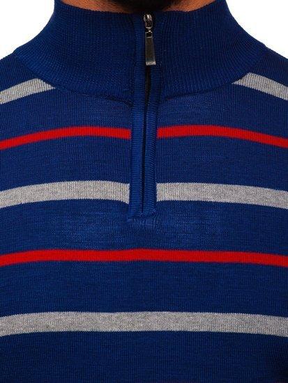 Modrý pánský svetr Bolf W05