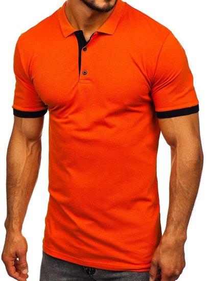 Oranžová pánská polokošile Bolf 171222-1