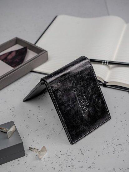 Pánská černá kožená peněženka 3135