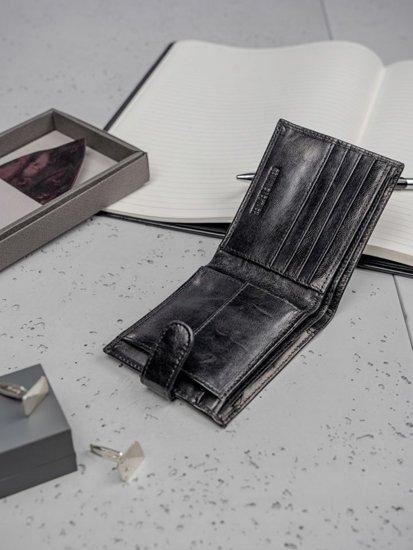 Pánská černá kožená peněženka 3188