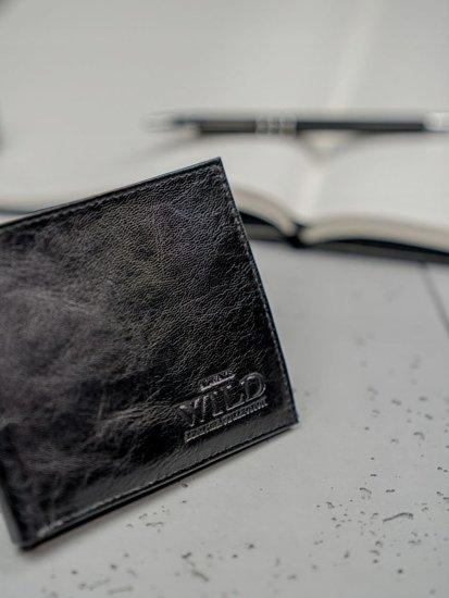 Pánská černá kožená peněženka 3190