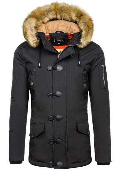 Pánská černá zimní bunda Bolf 3093